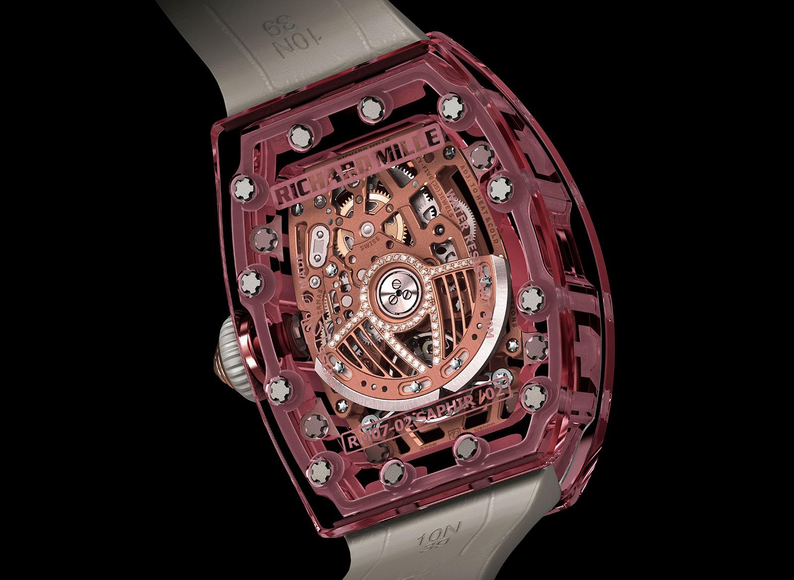 Richard Mille RM 07-02 Pink Lady Sapphire 1
