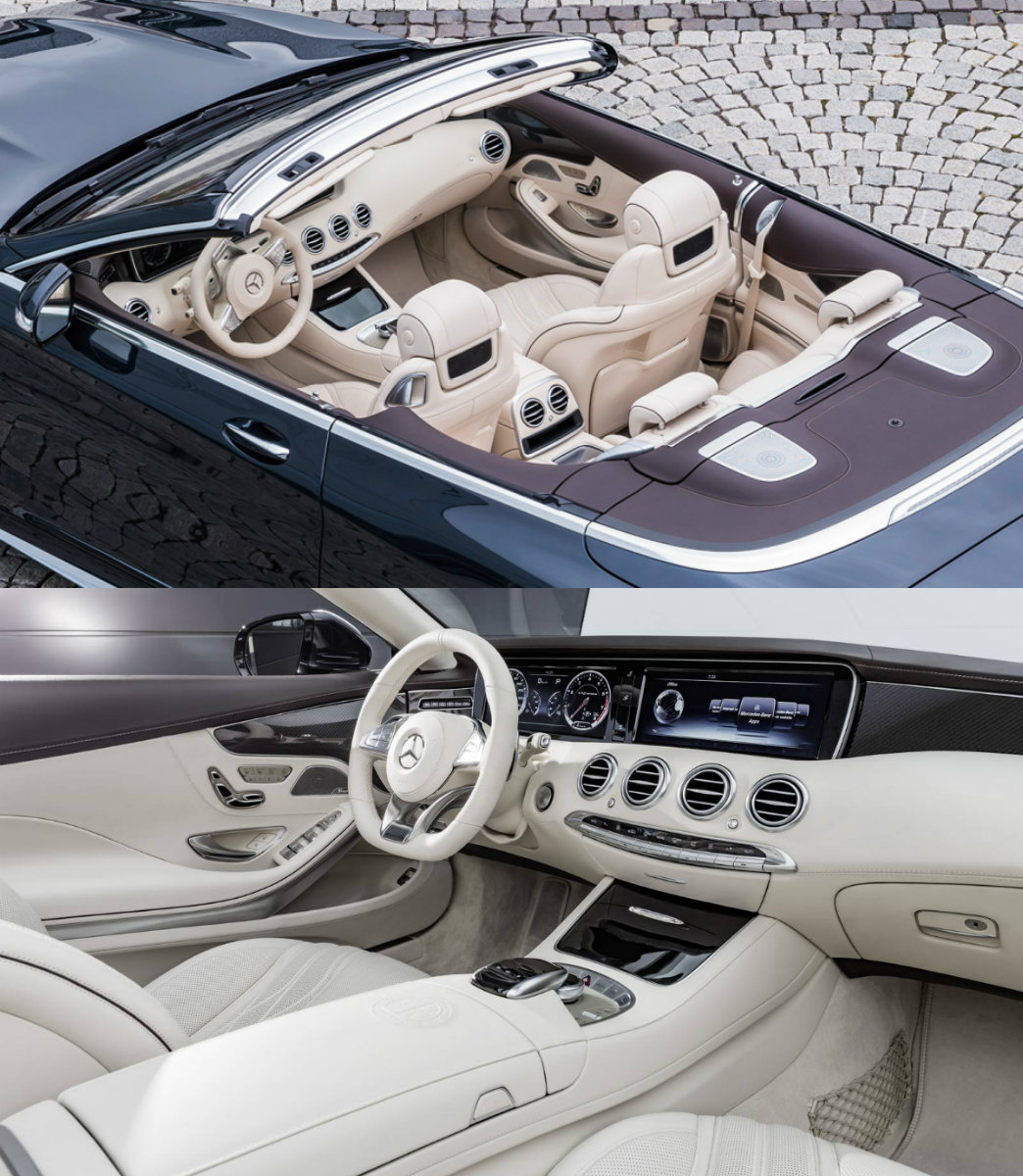 S 65 Mercedes Cabriolet interior 2016