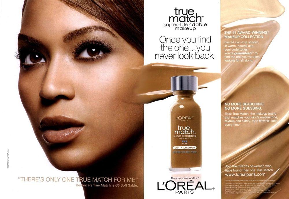 Photo Credit: Beyonce in L'Oréal True Match Super-Blendable Makeup Campain