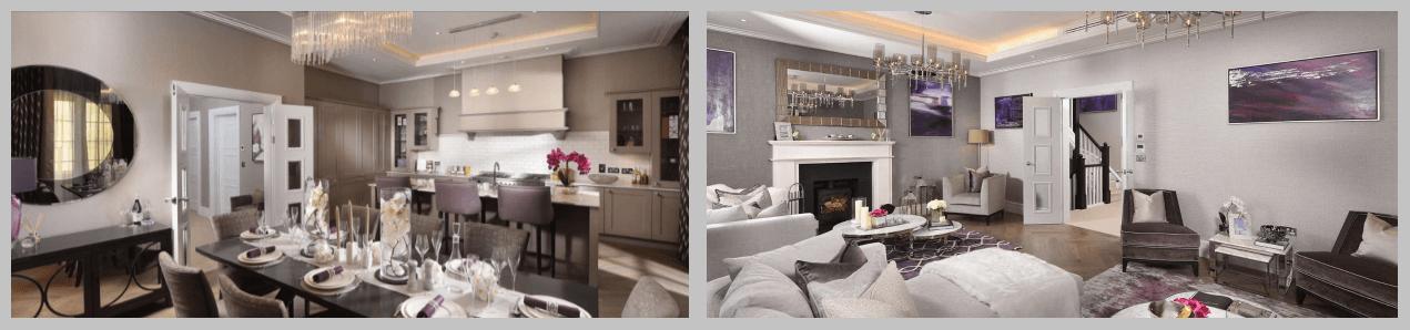 Ultra modern kitchen & lounge